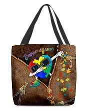 Embrace differences Leather pattern print All-over Tote back
