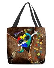 Embrace differences Leather pattern print All-over Tote front