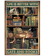 Life is better with cats and books 11x17 Poster front