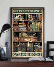 Life is better with cats and books 11x17 Poster lifestyle-poster-2