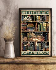 Life is better with cats and books 11x17 Poster lifestyle-poster-3