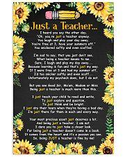 Just a teacher 11x17 Poster front