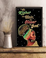 The higher the hair - Printed Poster 11x17 Poster lifestyle-poster-3