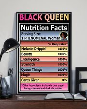 Black queen nutrition facts 11x17 Poster lifestyle-poster-2