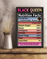 Black queen nutrition facts 11x17 Poster lifestyle-poster-3