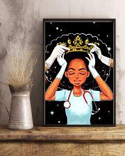 Black queen nurse 11x17 Poster lifestyle-poster-3