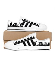 Black and white shoes Men's Low Top White Shoes inside-left-outside-left