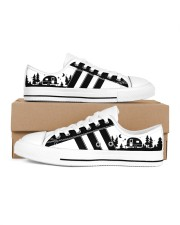 Black and white shoes Men's Low Top White Shoes inside-right-outside-right