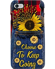 Choose to keep going Leather pattern print Phone Case i-phone-8-case