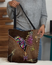 I am the storm Leather pattern print All-over Tote aos-all-over-tote-lifestyle-front-10