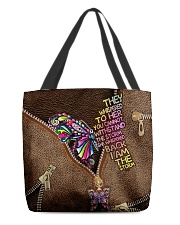 I am the storm Leather pattern print All-over Tote back