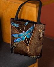 Blue dragonfly All-over Tote aos-all-over-tote-lifestyle-front-02