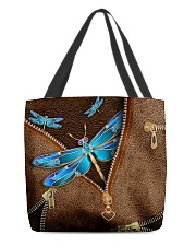 Blue dragonfly All-over Tote back