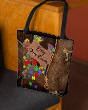 Every piece counts Leather Pattern Print All-over Tote aos-all-over-tote-lifestyle-front-02