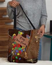 Every piece counts Leather Pattern Print All-over Tote aos-all-over-tote-lifestyle-front-10