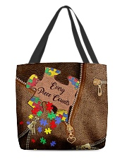 Every piece counts Leather Pattern Print All-over Tote back