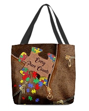 Every piece counts Leather Pattern Print All-over Tote front