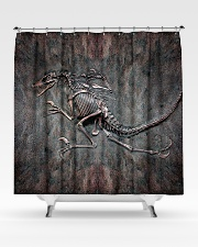 Dinosaur Fossil Metal Pattern Printed  Shower Curtain aos-shower-curtains-71x74-lifestyle-front-02
