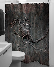 Dinosaur Fossil Metal Pattern Printed  Shower Curtain aos-shower-curtains-71x74-lifestyle-front-04