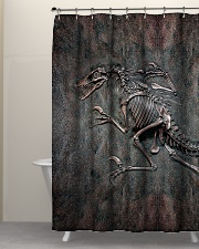 Dinosaur Fossil Metal Pattern Printed  Shower Curtain aos-shower-curtains-71x74-lifestyle-front-05