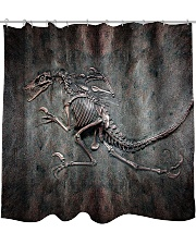 Dinosaur Fossil Metal Pattern Printed  Shower Curtain front