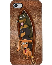 Dachshund leather pattern print Phone Case i-phone-8-case