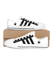 I love you black and white shoes Men's Low Top White Shoes inside-left-outside-left