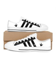 I love you black and white shoes Men's Low Top White Shoes inside-right-outside-right