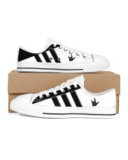 I love you black and white shoes Women's Low Top White Shoes tile