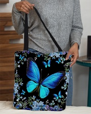 Blue butterfly  All-over Tote aos-all-over-tote-lifestyle-front-10