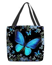 Blue butterfly  All-over Tote back