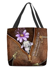 I'll Remember For You Leather Pattern Print All-over Tote back