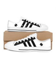 Autism awareness black and white shoes Men's Low Top White Shoes inside-left-outside-left