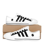 Autism awareness black and white shoes Women's Low Top White Shoes tile