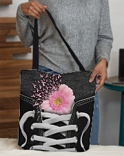 Never give up All-over Tote aos-all-over-tote-lifestyle-front-10
