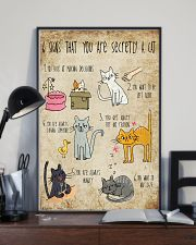 Six signs that you are secretly a cat 11x17 Poster lifestyle-poster-2