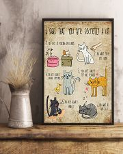 Six signs that you are secretly a cat 11x17 Poster lifestyle-poster-3