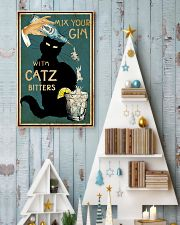 Mix Your Gin with Catz Bitters 11x17 Poster lifestyle-holiday-poster-2