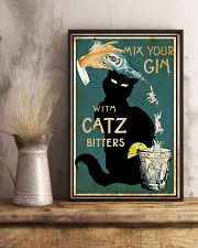 Mix Your Gin with Catz Bitters 11x17 Poster lifestyle-poster-3