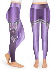 Warrior Metal pattern print  High Waist Leggings front