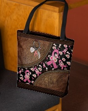Faith Hope Love Leather pattern print All-over Tote aos-all-over-tote-lifestyle-front-02