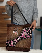 Faith Hope Love Leather pattern print All-over Tote aos-all-over-tote-lifestyle-front-10