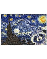 Racoon starry night poster 17x11 Poster front
