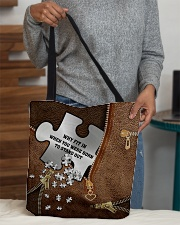 Why fit in when you were born to stand out All-over Tote aos-all-over-tote-lifestyle-front-10