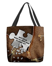 Why fit in when you were born to stand out All-over Tote front