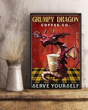 Grumpy dragon coffee co 11x17 Poster lifestyle-poster-3