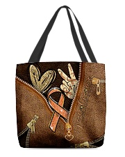Peace love multiple sclerosis All-over Tote front