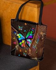 Be Kind Leather pattern print All-over Tote aos-all-over-tote-lifestyle-front-02
