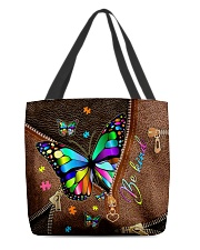 Be Kind Leather pattern print All-over Tote back