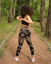 Teacher Leopard Pattern Print  High Waist Leggings aos-high-waist-leggings-lifestyle-17